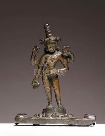 Prajnaparamita (Prajñâpâramitâ)Tibet Occidental ca 11°-12° siècleAlliage cuivre
