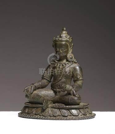 Kubera/JambhalaNepal ca 15° siècleAlliage cuivreux. H. 8,5 cmLe dieu des riches