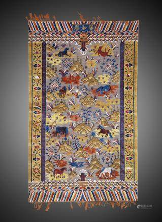 Rare tapis ImpérialChine Dynastie Qing, fin 19° siècle263 x 165 cmTapis rectang