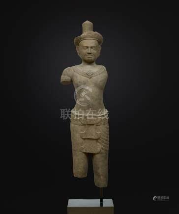Divinité masculineArt Khmer (Cambodge - Laos - Thailande)Style dit d'Angkor Vat