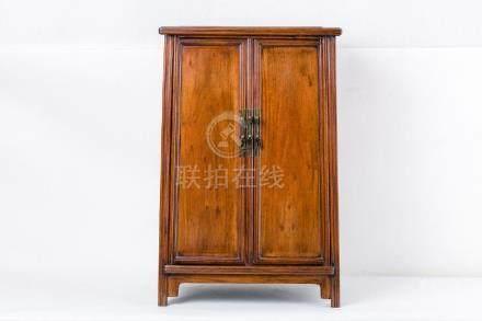 A CHINESE HUANG HUA LI YELLOW ROSEWOOD CABINET, QING