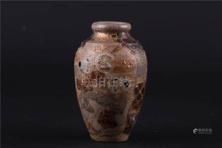 A CHINESE FAMILLE ROSE LITTLE JAR, EARLY QING DYNASTY