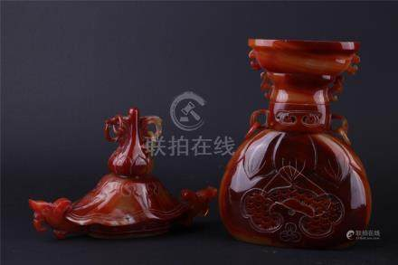 A CHINESE AGATE CENCER, THE REPUBLIC PERIOD