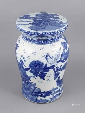 Porcelain china stool, China, 20th century, baluster-shaped