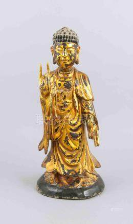 Buddha, China?, 19th/20th century, gilded wood. Standing on