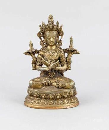 Sitatara in Padmasana, China/Tibet, early 20th century, bron