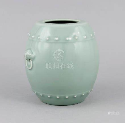 Barrel-shaped vase, China, with Qianlong seal mark in underg