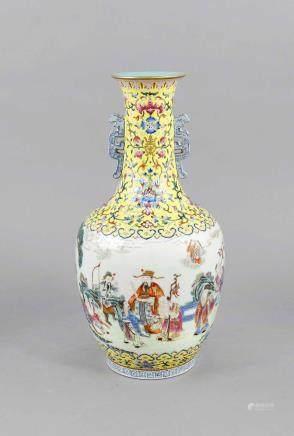 Vase, China, probably Republic-time, bulbous body, elongated