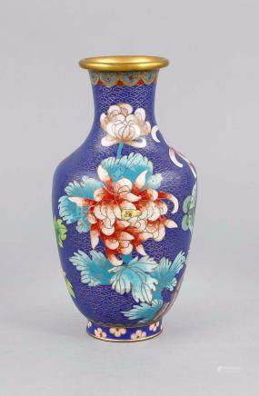 Cloisonné vase, China?, 20th century, slightly shouldered fo