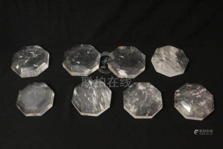 8 Chinese crystal stands