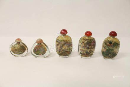 5 inside painted snuff bottles