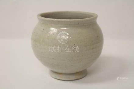 Chinese antique light celadon small jar