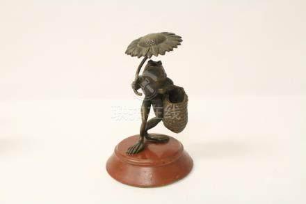Interesting Japanese bronze sculpture