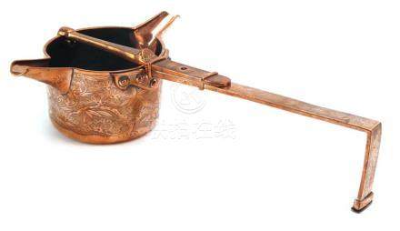A Meiji copper double ended water pourer,