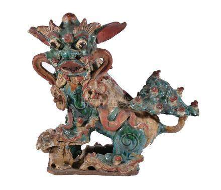 A large Chinese pottery 'Dog of Foe'