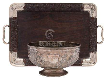 A late 19th/early 20th century Chinese silver bowl, maker Wang Hing & Co.
