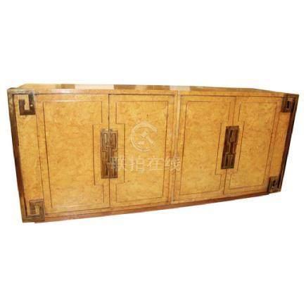 Mastercraft Amboyna Burl and Brass Sideboard