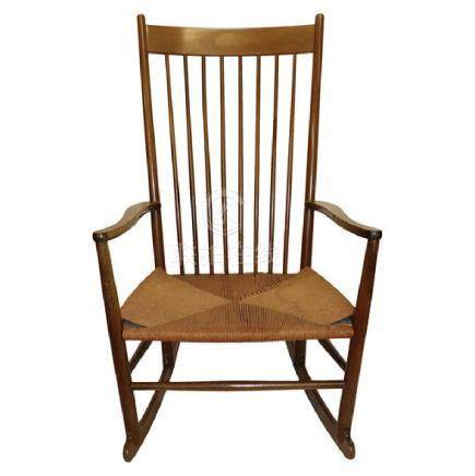 Hans Wagner Rocking Chair Signed