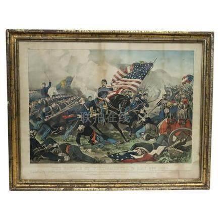 Currier & Ives Battle of Williamsburg 1862