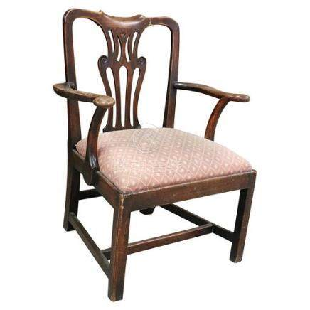 18th Century American Chippendale Arm Chair