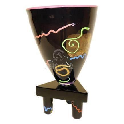 Art Glass Vase by Leon Applbaum