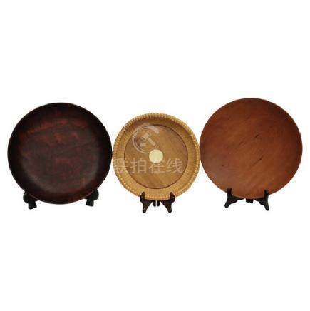 3 Turned Wood Bowls Signed
