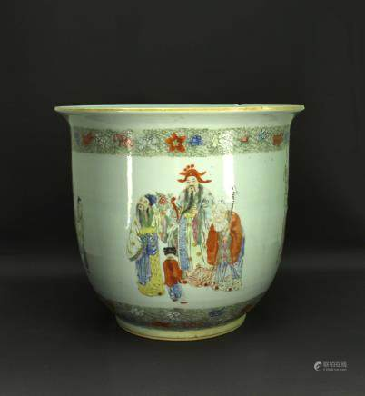 Famille Rose Story Flowers Pot Republican
