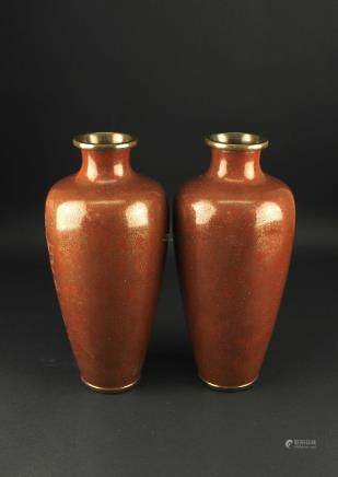 Pair of Japanese Cloisonne Vase