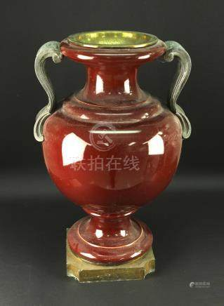 Red Glaze European Vase