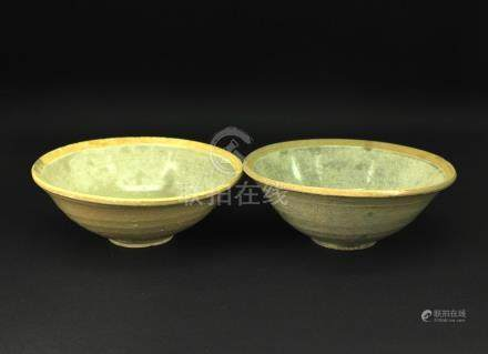 Two of Celadon Glaze Bowl Song--Yuan Period