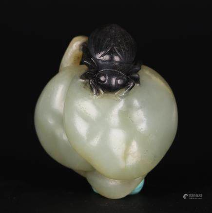 CHINESE GREY WHITE JADE PENDANT