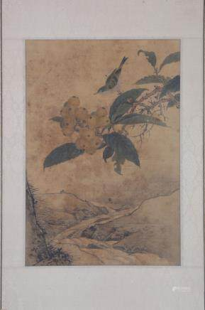 CHINESE PAINTING OF FLOWER AND BIRDS