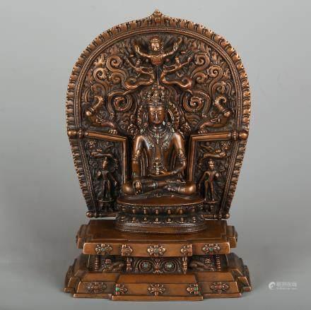 CHINESE BRONZE BUDDHIST FIGURE