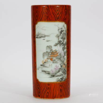 CHINESE FAMILLE ROSE PORCELAIN WRIST REST