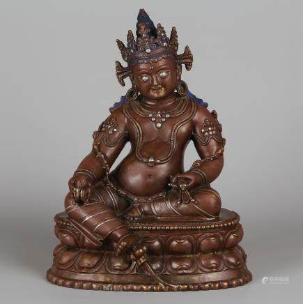 CHINESE BRONZE FIGURE OF JAMBHALA