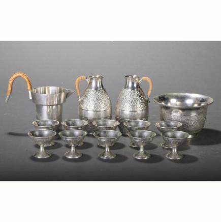 CHINESE SET OF SILVER TEA WARES
