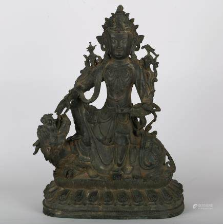 CHINESE MING DYNASTY BRONZE FIGURE OF GUANYIN
