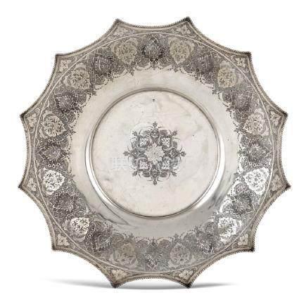 Silver stand Persia, 20th century