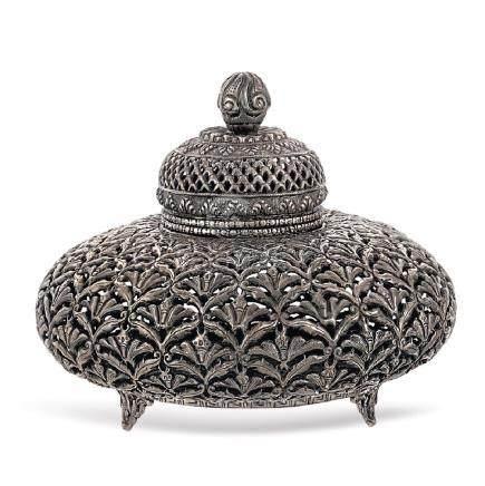 Silver box Oriental art, 19th-20th century