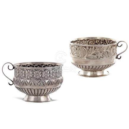 Two silver cups Oriental art, 19th-20th century