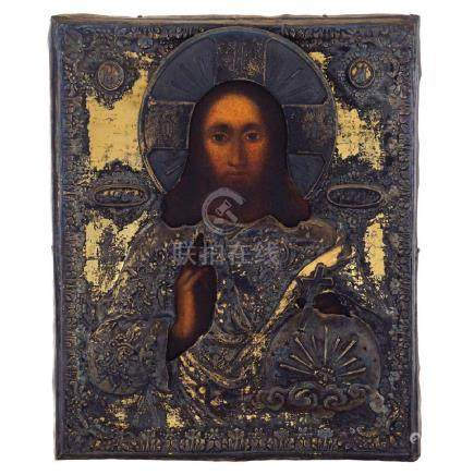 Icon depicting the Christ Moscow, 1836 27x22 cm.