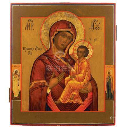 Icon depicting The Tikhvin Madonna
