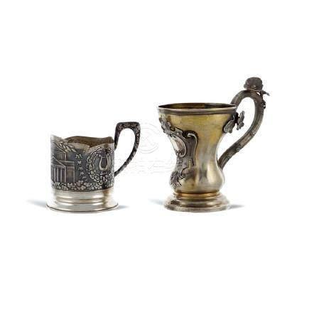Two silver glasses Russia, 19th - 20th century