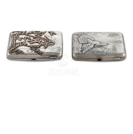 Two silver cigarette boxes Russia, 19th-20th century