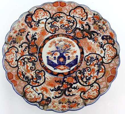 19th century Japanese Imari charger, diameter 60cm