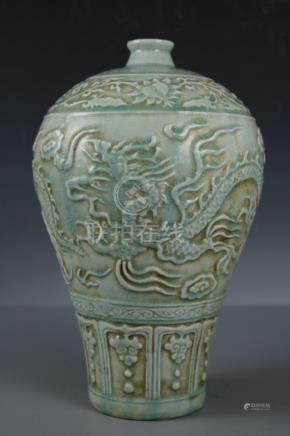 Chinese Beautiful Longquan kiln porcelain Dragon Vase , Leng
