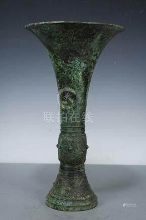 Chinese Beautiful Rare Bronze Flower bud???? ; Length: 9.6 i