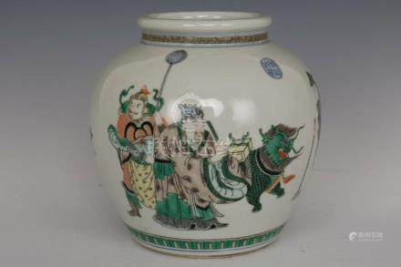 Fine Beautiful Chinese Five Colors Porcelain Kylin and Immor