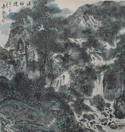 JI GUAN ZHICHINESE PAINTING ATTRIBUTED TO