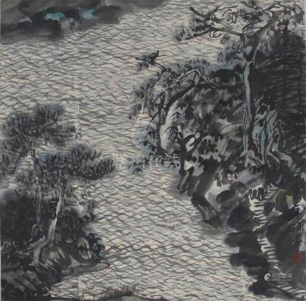 ZHANG ZHEN XUECHINESE PAINTING ATTRIBUTED TO